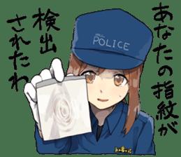 Police Girlfriend sticker #10376571