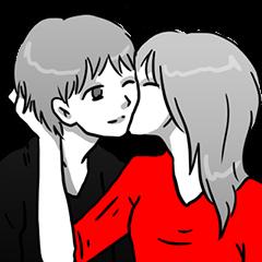 Manga couple in love 2