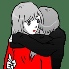 Manga couple in love 2 sticker #10382050