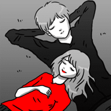 Manga couple in love 2 sticker #10382051