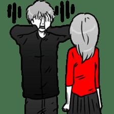 Manga couple in love 2 sticker #10382066