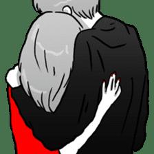 Manga couple in love 2 sticker #10382068