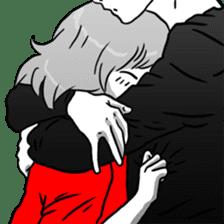 Manga couple in love 2 sticker #10382069