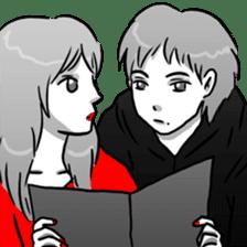 Manga couple in love 2 sticker #10382071