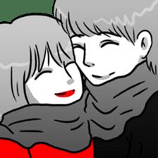 Manga couple in love 2 sticker #10382072