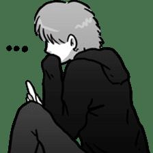 Manga couple in love 2 sticker #10382076