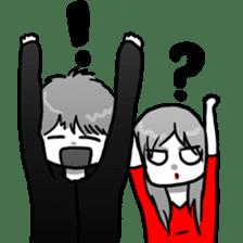 Manga couple in love 2 sticker #10382077