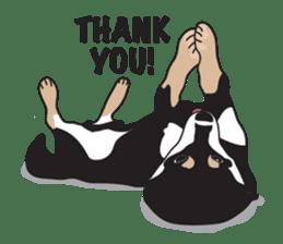 Black Shiba Inu Akira sticker #10411478