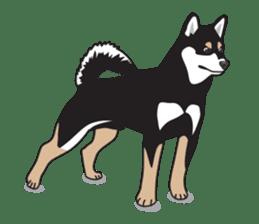 Black Shiba Inu Akira sticker #10411491