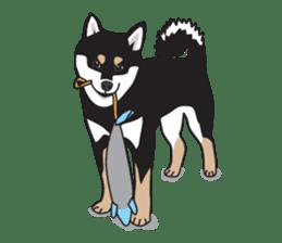 Black Shiba Inu Akira sticker #10411492