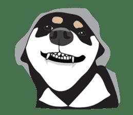 Black Shiba Inu Akira sticker #10411503