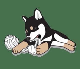 Black Shiba Inu Akira sticker #10411505