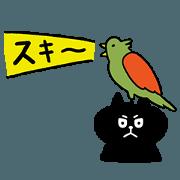 สติ๊กเกอร์ไลน์ HIJIKI -black cat-