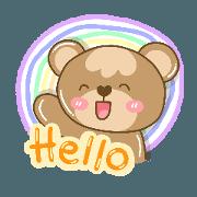 สติ๊กเกอร์ไลน์ Bubble Bear is your friend