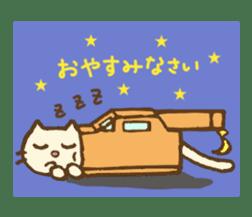 White cat with crane truck sticker #10413756