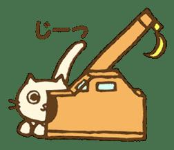 White cat with crane truck sticker #10413762