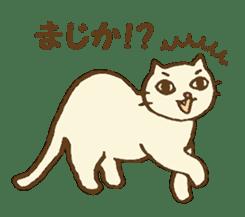 White cat with crane truck sticker #10413770