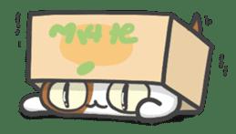 ORANGE BOX CAT sticker #10419086