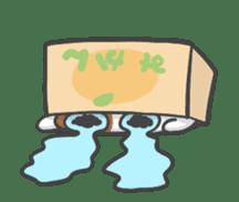 ORANGE BOX CAT sticker #10419099
