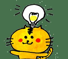 Tiger cat , day-to-day Torao sticker #10419641