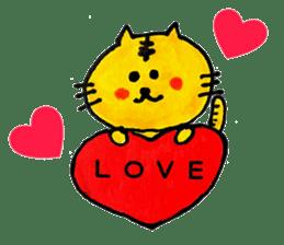 Tiger cat , day-to-day Torao sticker #10419645