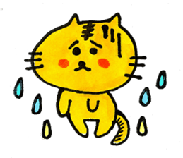 Tiger cat , day-to-day Torao sticker #10419662