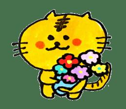 Tiger cat , day-to-day Torao sticker #10419669