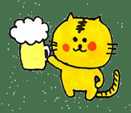 Tiger cat , day-to-day Torao sticker #10419670