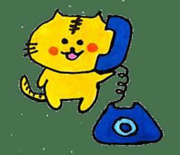 Tiger cat , day-to-day Torao sticker #10419676