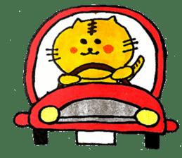 Tiger cat , day-to-day Torao sticker #10419679