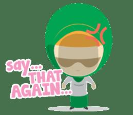 Aisyah The Cute Muslimah sticker #10426334