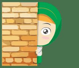 Aisyah The Cute Muslimah sticker #10426353