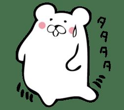 Daily life's Sticker of Mr. white bear sticker #10436360
