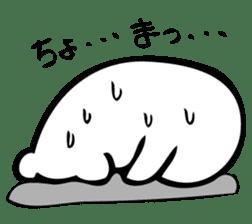 Daily life's Sticker of Mr. white bear sticker #10436363