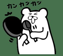 Daily life's Sticker of Mr. white bear sticker #10436376