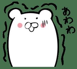 Daily life's Sticker of Mr. white bear sticker #10436385
