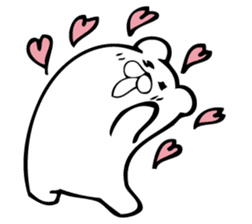 Daily life's Sticker of Mr. white bear sticker #10436389