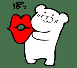 Daily life's Sticker of Mr. white bear sticker #10436392