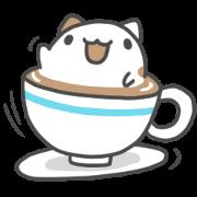 สติ๊กเกอร์ไลน์ Foam Cat & Capoo