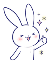 The rabbit get lonely easily 5 (English) sticker #10445323