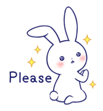 The rabbit get lonely easily 5 (English) sticker #10445326
