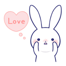 The rabbit get lonely easily 5 (English) sticker #10445327
