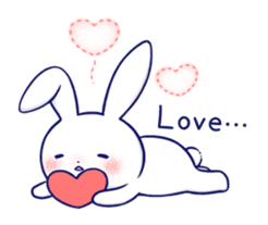 The rabbit get lonely easily 5 (English) sticker #10445329