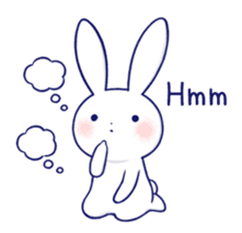 The rabbit get lonely easily 5 (English) sticker #10445332