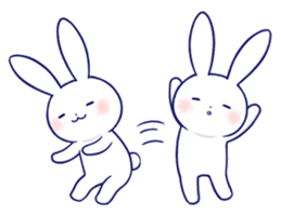The rabbit get lonely easily 5 (English) sticker #10445334