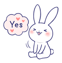 The rabbit get lonely easily 5 (English) sticker #10445337