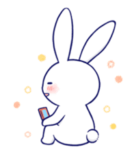 The rabbit get lonely easily 5 (English) sticker #10445346