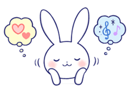 The rabbit get lonely easily 5 (English) sticker #10445352