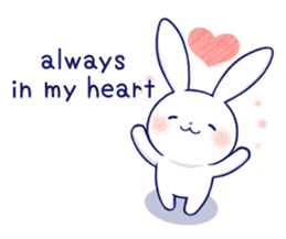 The rabbit get lonely easily 5 (English) sticker #10445353