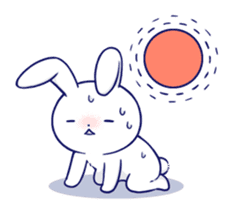 The rabbit get lonely easily 5 (English) sticker #10445357
